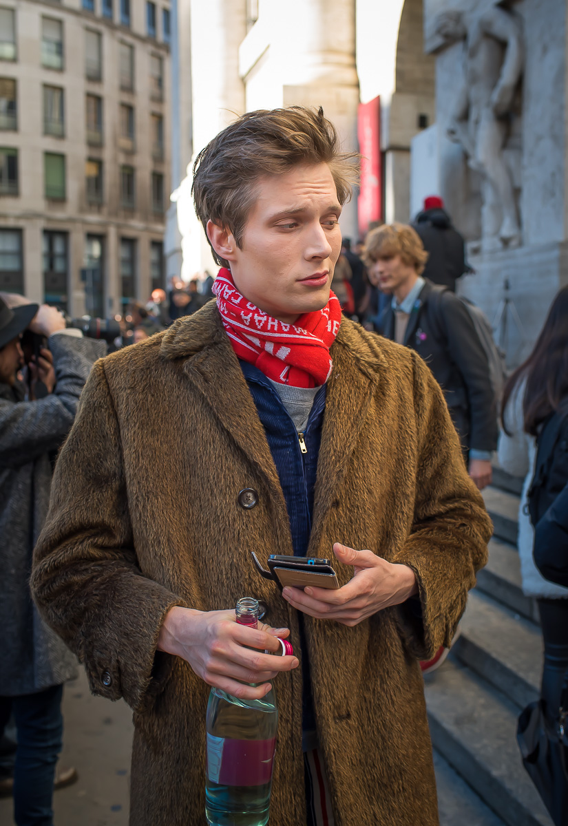 Felix Gesnouin outside Salvatore Ferragamo Show,17 Jan. 2016 Milano Men's Fashion Week, by Annika Lagerqvist, www.annikasomething.com-1-1