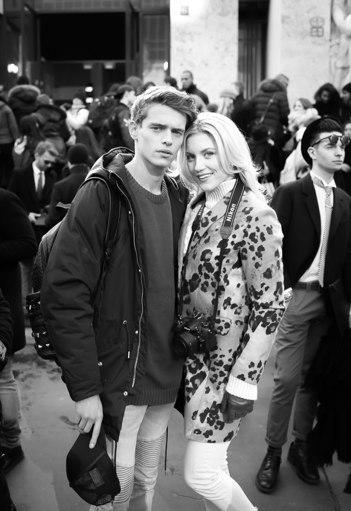 Jordy Baan & Malin Lagerqvist after Salvatore Ferragamo Show,17 Jan. 2016 Milano Men's Fashion Week, by Annika Lagerqvist, www.annikasomething.com-1-1
