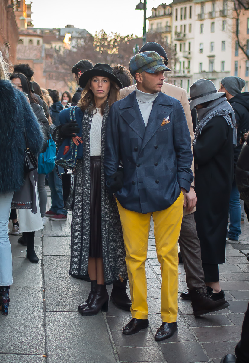 Luca Rubinacci & Maria Barros Paredes,17 Jan. 2016 Milano Men's Fashion Week, by Annika Lagerqvist, www.annikasomething.com-1-1