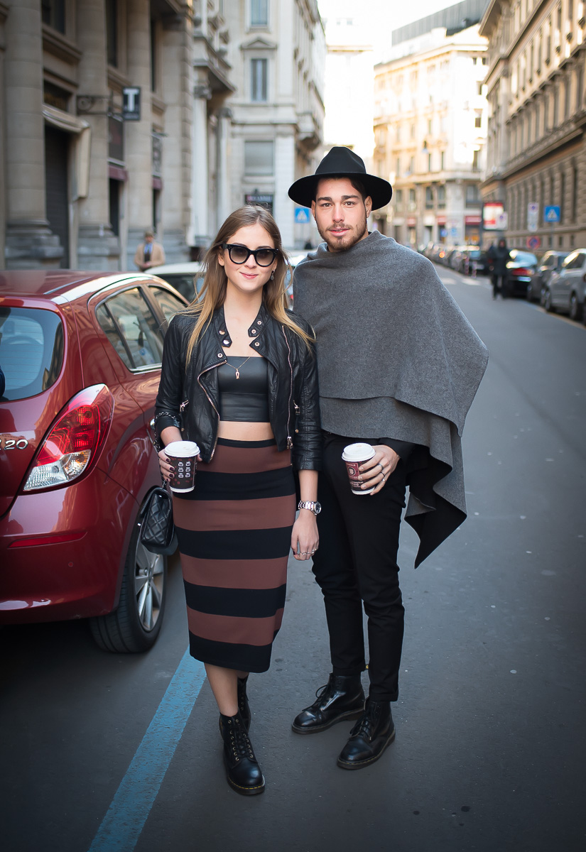 Valentina Ferragni & Luca Vezil,17 Jan. 2016 Milano Men's Fashion Week, by Annika Lagerqvist, www.annikasomething.com-1-2