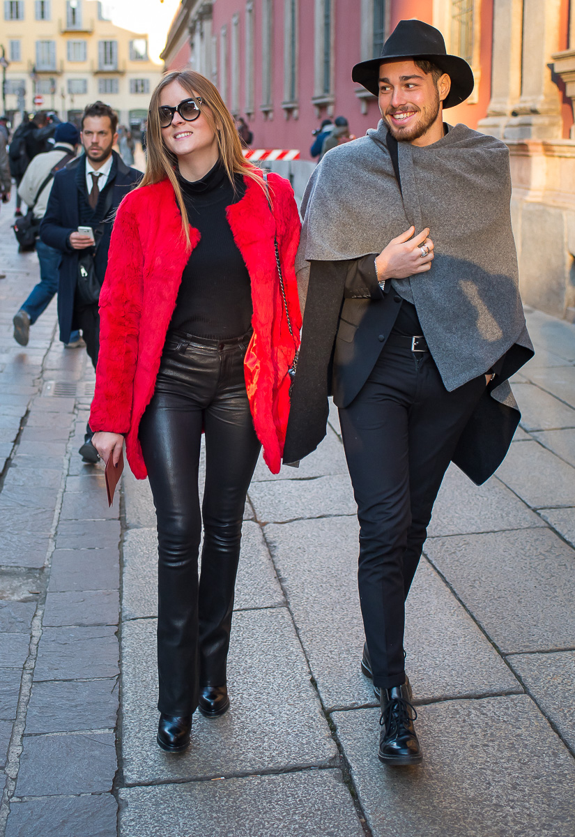 Valentina Ferragni & Luca Vezil,17 January 2016 Milan Men's Fashion Week-1