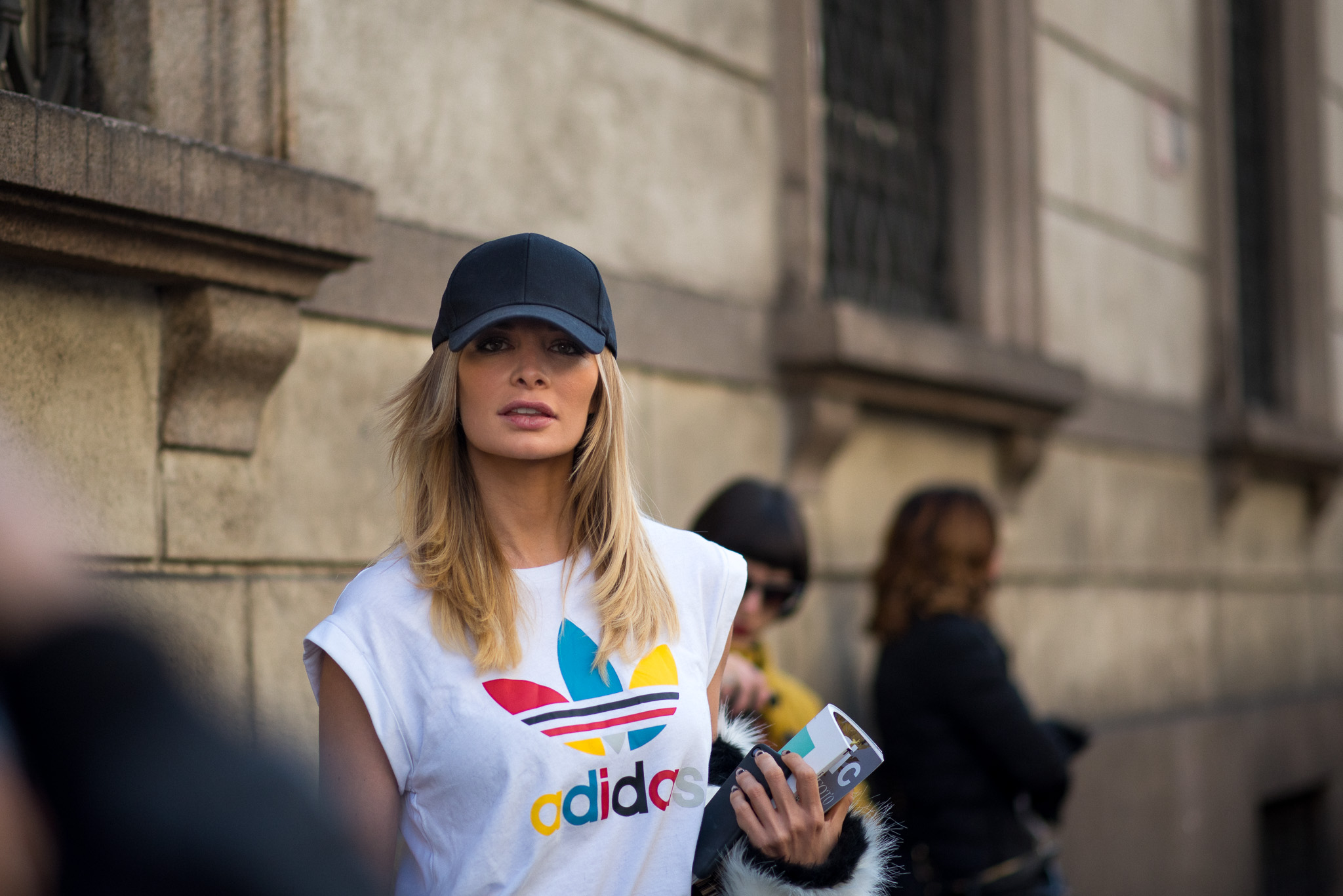 Leonora Jiménez, Street Style, outside Trussardi, Milan Fashion Week, February 26th 2017. Photography Annika Lagerqvist, www.annikasomething.com