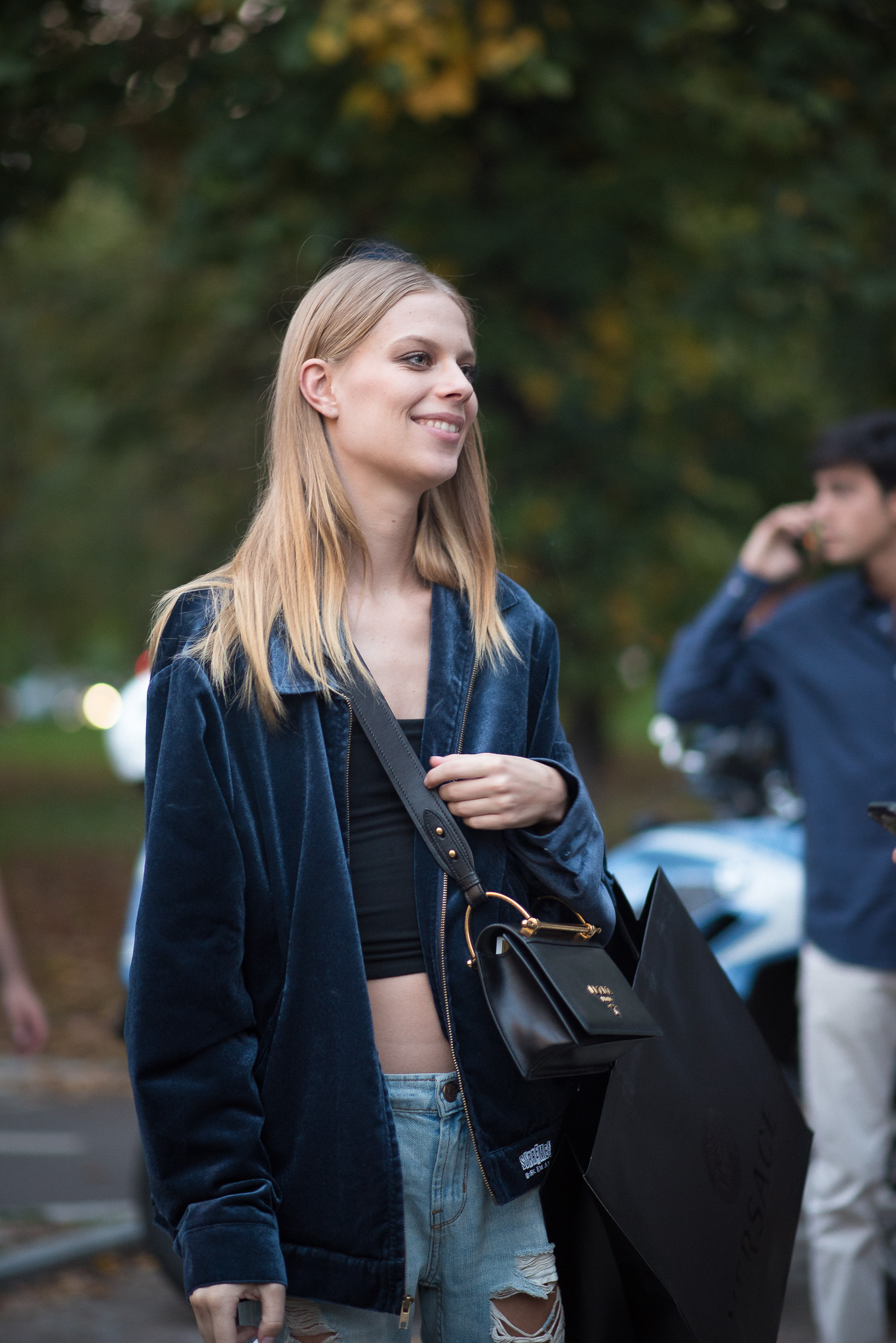 Lexi Boling Models Off Duty Versace Milan Fashion Week September 2017 Photography Annika Lagerqvist www.annikasomething.com