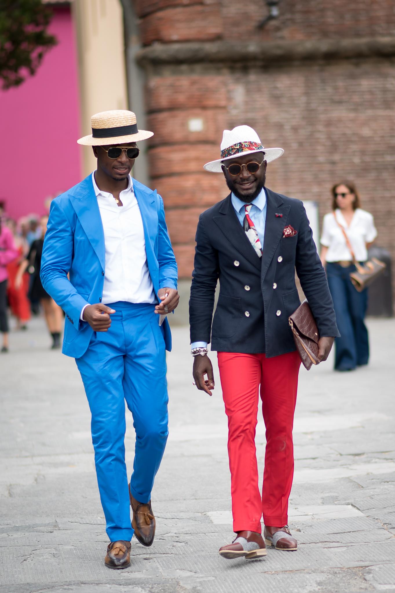 Manuel Godinho & Lourens Gebhardt Street Style Pitti Uomo 92 Florence June 2017 Photography Annika Lagerqvist www.annikasomething.com