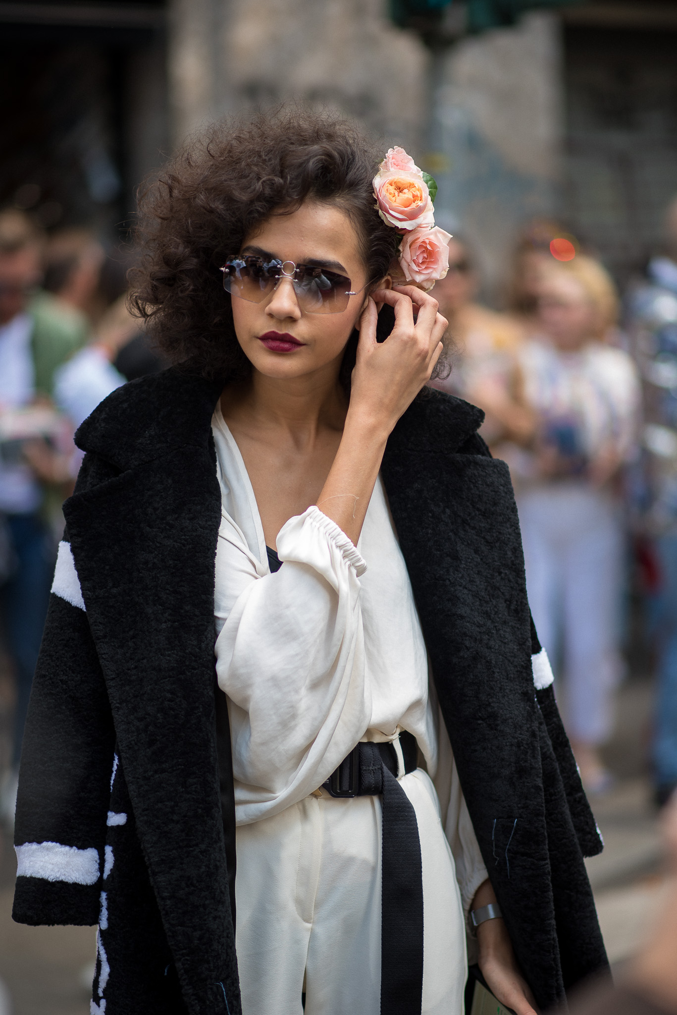 Fernanda Oliveira Models Off Duty Dolce & Gabbana Milan Fashion Week September 2017 Photography Annika Lagerqvist www.annikasomething.com