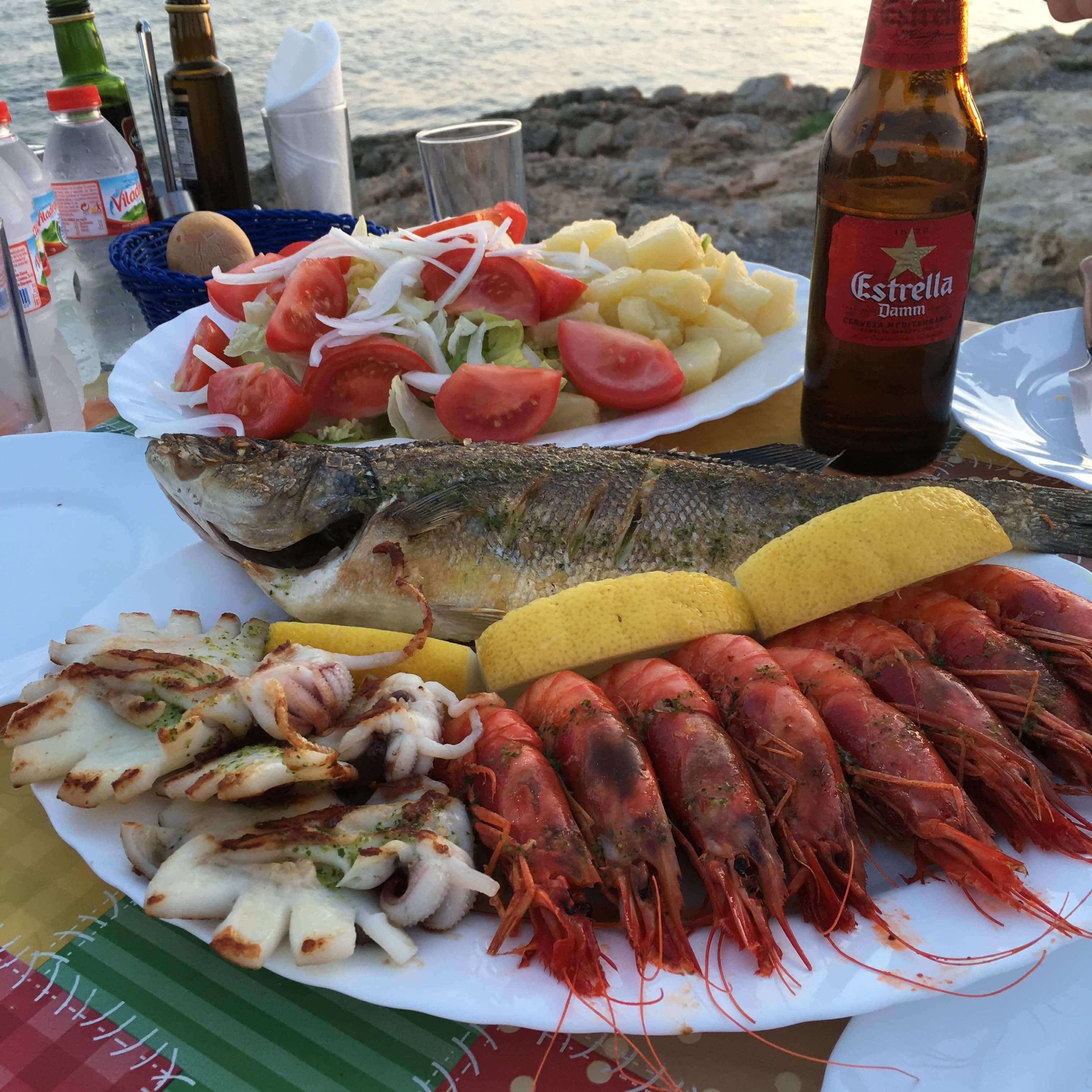 Ibiza Fish Shack Restaurant Talamanca Bay Seafood