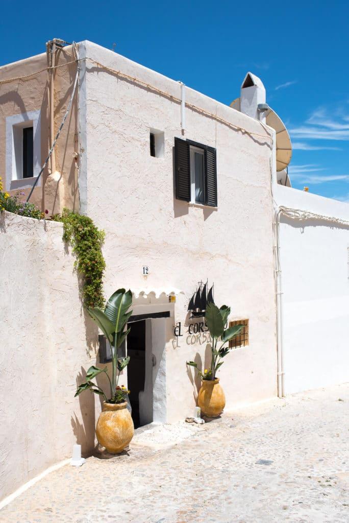 Ibiza Town Dalt Vila Cobblestone Street