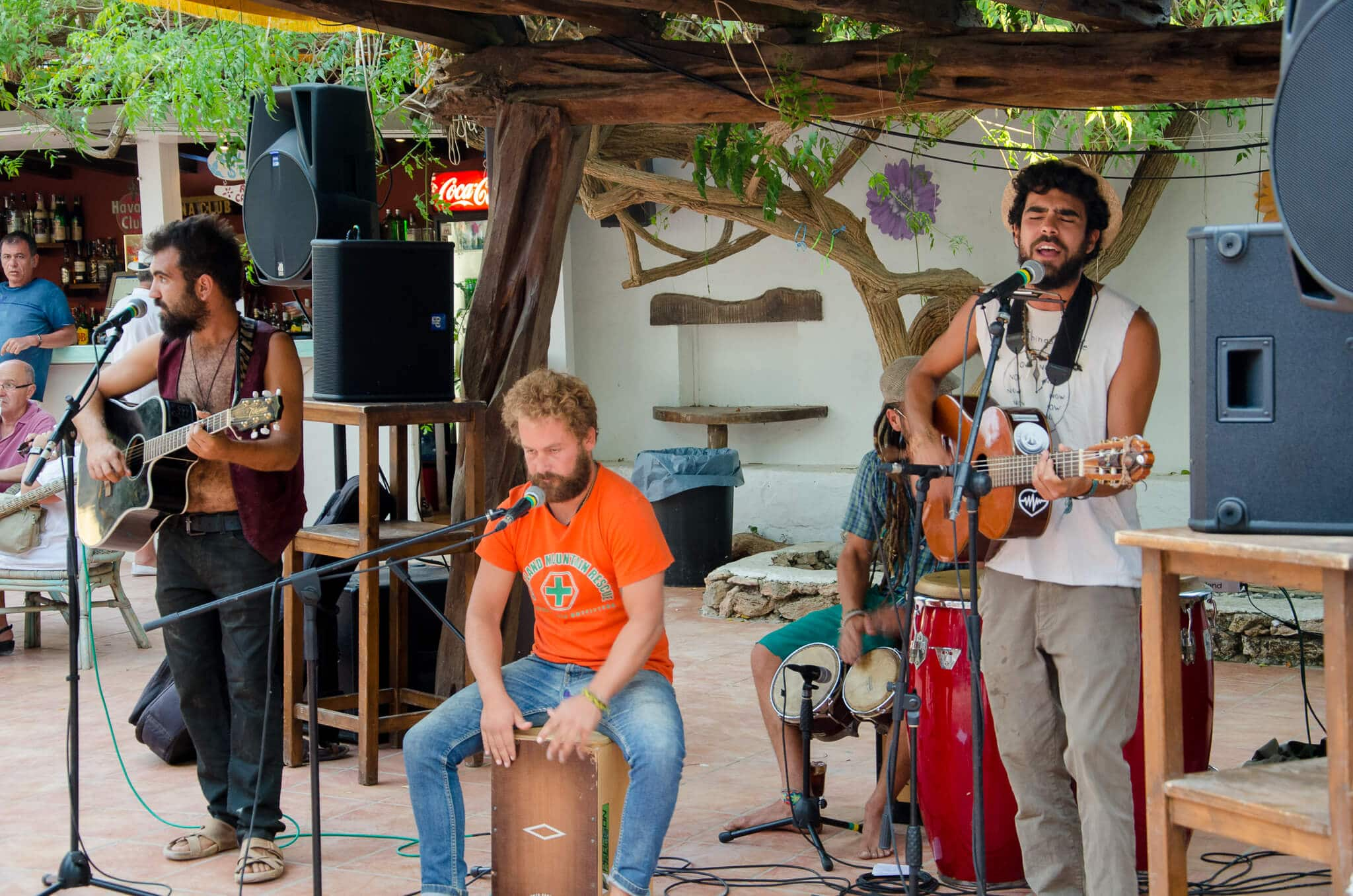 Ibiza Las Dalias Hippie Market Live Band
