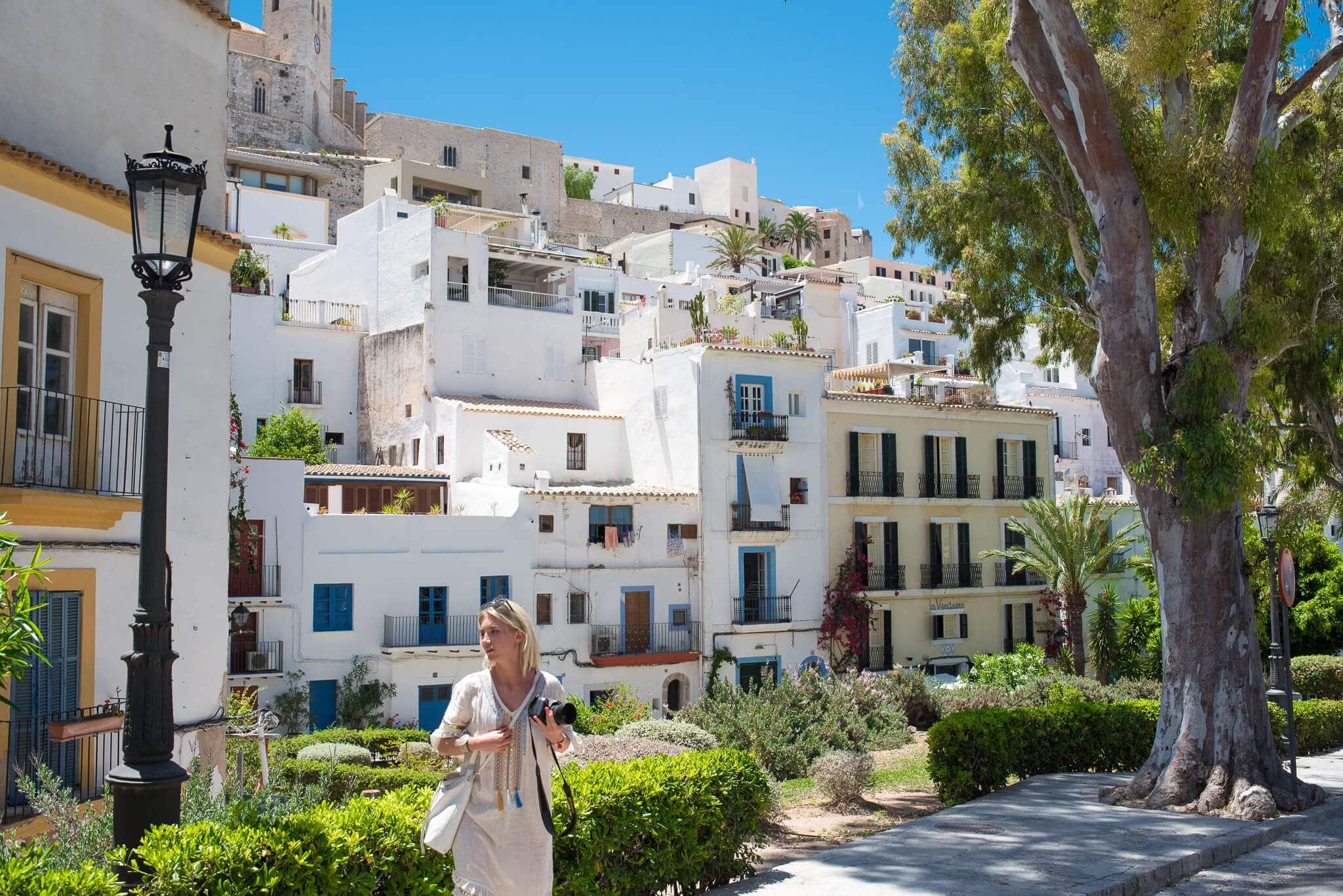 Ibiza Town White Houses